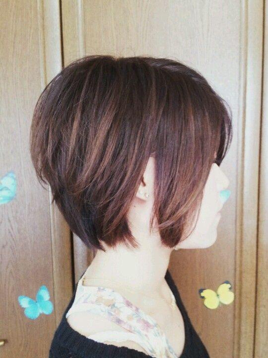 hair color short hair style short bob hitomi.y♡°∴