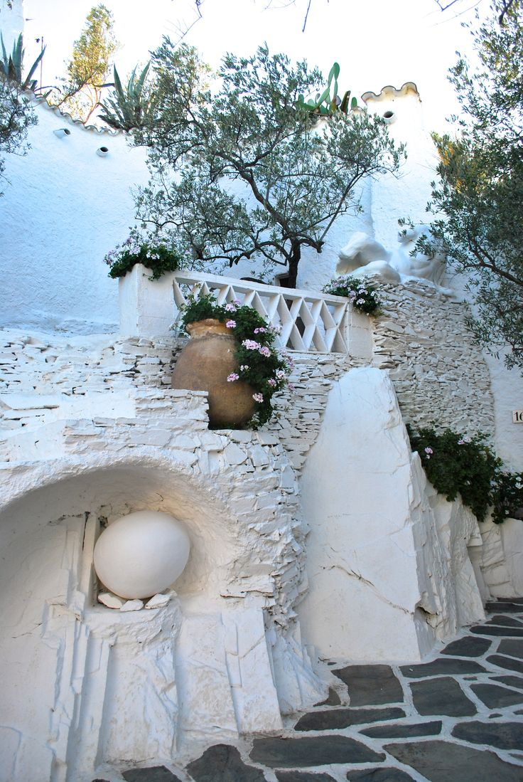 The grounds of Salvador Dali's home in Cadaques, Spain