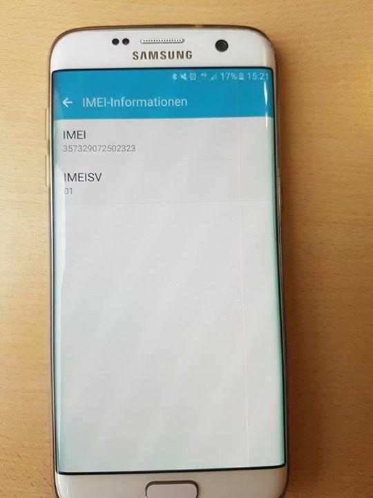 Hallo. Es geht um mein Galaxy s7 Edge. Ich habe eine Pinke Linie rechts auf dem Display. Außerdem ist meine Tastatur dauerhaft leicht sichtbar. Wenn ich es bei Media Markt einschicke dann habe ich gar kein Handy mehr da ich mein Austauschgerät erhalte wie bei der Telekom als Vertragskunde. Samsung? Könnt ihr mir ein Angebot zu meinem Problem bieten?