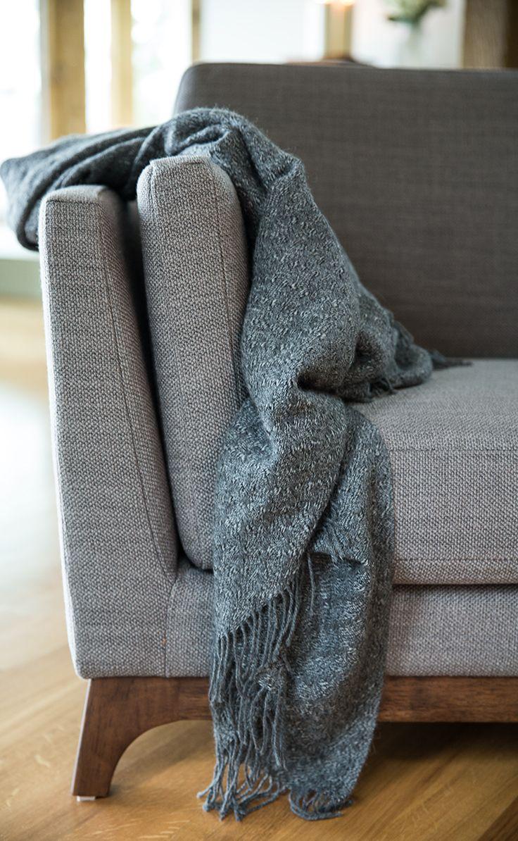 Modern classic armchair - Gray Fabric Armchair Solid Wood Legs Article Ceni Modern Furniture