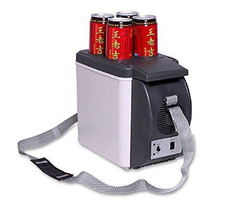 KDGWD Glacière 12V voiture chauffe-6L frigo électrique portatif réfrigérateur refroidisseur boîte de refroidisseur: Le réfrigérateur de…