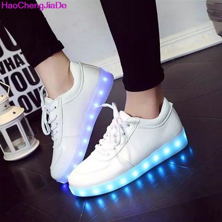 HaoChengJiaDe Luminous Sneakers Tenis Feminino Basket Led Enfant Light Up Trainers Kid Casual Boy&Girl Led Glowing Child shoes #Affiliate