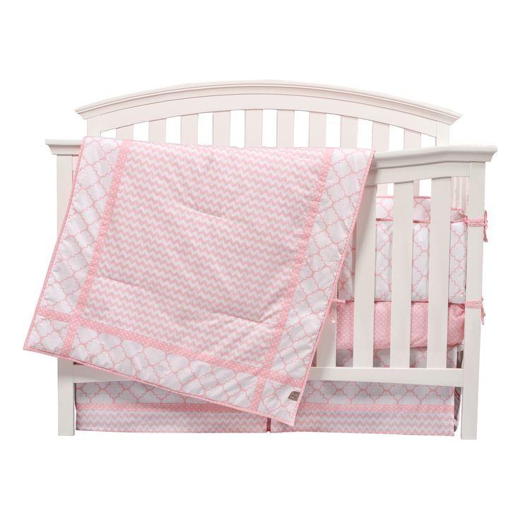 Trend Lab Rózsaszín Sky 3 db-os kiságy ágynemű szett   Overstock.com Vásárlás…