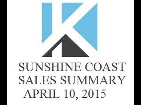 VIDEO: Sunshine Coast BC Real Estate Sales Summary Week Ending April 10 2015 by KT on the Coast Gibsons https://www.youtube.com/watch?v=jjyqarqyjqw