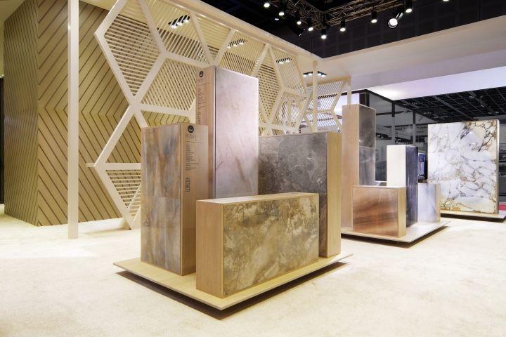 Royal Ceramica stand by Paolo Cesaretti, Dubai   UAE trade fairs