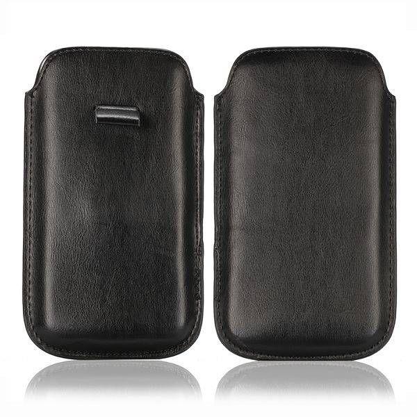 Zwart faux leder insteekhoesje voor Samsung Galaxy S5