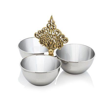 Bernardo Üçlü Çerezlik / Three-Pieces Appetizers #tabledesign #teatime #homedecor #home #ottoman #osmanli #ancient