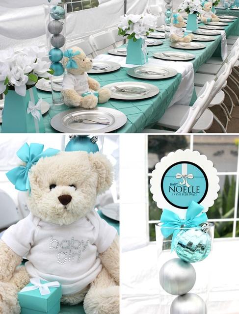 Cute Tiffany Themed Baby Shower. Love Love Love The Bears As Centerpieces.  Sooo Cute
