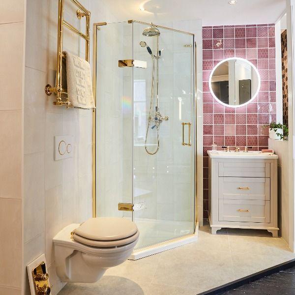 Gold Brassware Is Back Round Mirror Bathroom Bathroom Showrooms Bathroom Mirror