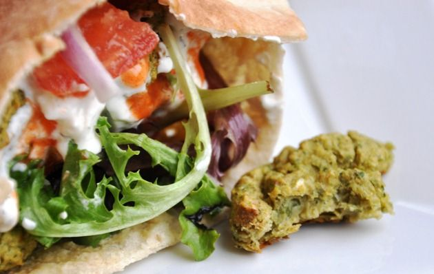 A Healthy Baked Falafel Sandwich | Honey, What's Cooking?
