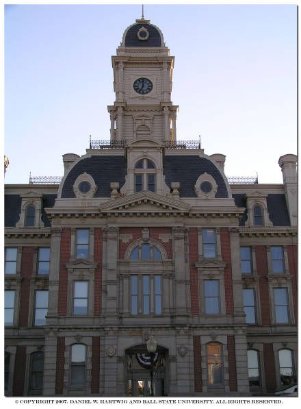 """Hamilton County, Indiana Courthouse, 2005"" - To learn more, visit the Daniel W. Hartwig Indiana Courthouse Photographs in the Ball State University Digital Media Repository.  Copyright 2007. Daniel W. Hartwig and Ball State University. All rights reserved."