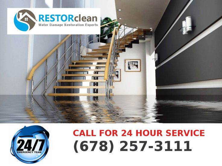 24 Hour Emergency flood and water damage clean up available in the #Atlanta area. Call - 678-257-3111 or visit http://restorclean.net