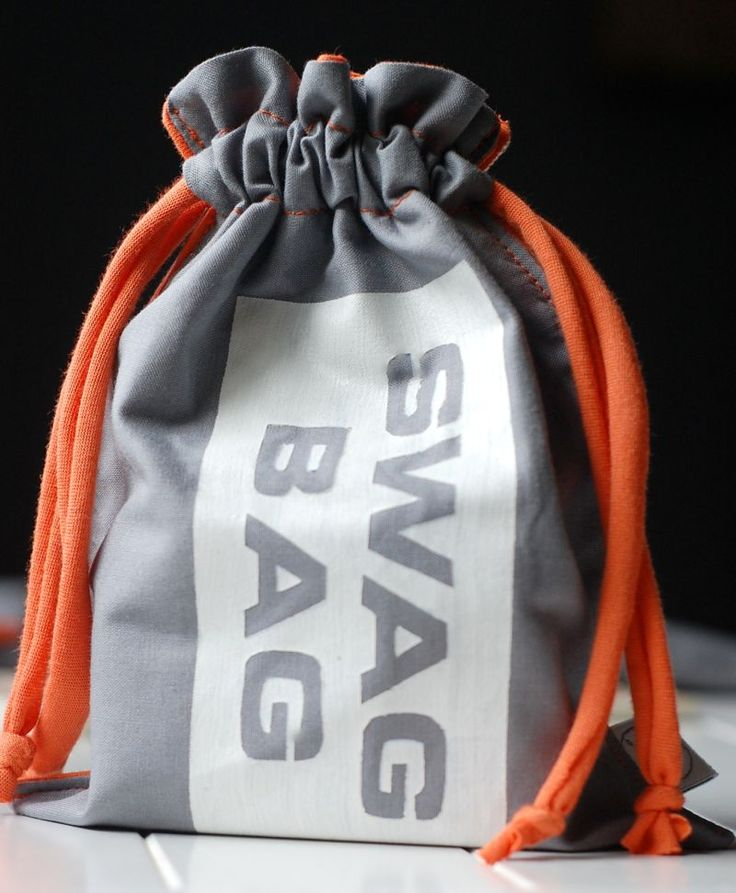I think this is a good idea. A swag bag. Great thing to store geocaching swag. [=
