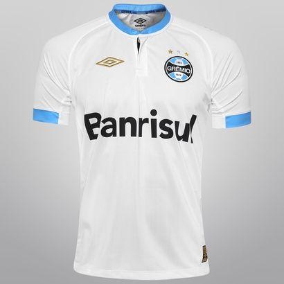 Camisa Umbro Grêmio II 2015 s/nº - Branco+Azul Claro