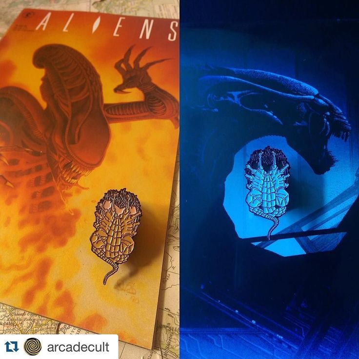 #Repost @arcadecult #FacehuggerFriday our pins pictured with the Aliens Darkhorse Comic from the 90's (left) and the soundtrack vinyl from Mondo (right) that we scooped at SDCC last year.  #pingame #patchgame #facehugger #aliens #alien #giger #art #comics #90skid #90s #vinyl #design #art #illustration #arcadedaze