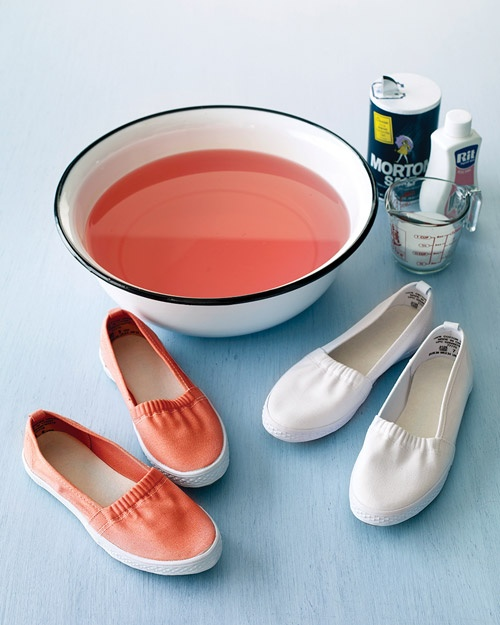 how to dye your own white canvas shoesCanvas Shoes, Good Things, Canvas Sneakers, Dyes White, White Canvas, Dyes Canvas, Martha Stewart, Dyed Canvas, Die Canvas