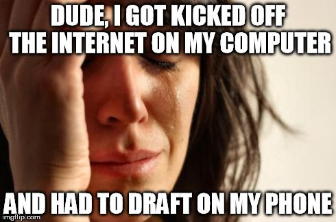My friend tonight during our Fantasy Football draft - http://wittybugs.com/my-friend-tonight-during-our-fantasy-football-draft/