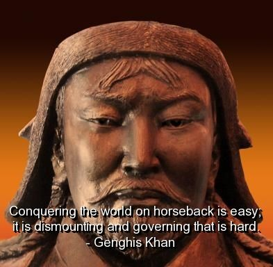 an analysis of the leadership and the history of genghis khan a great ruler A review of the book genghis khan history essay  land has shown that genghis khan was a great leader and wanted the best for his people  a powerful ruler .