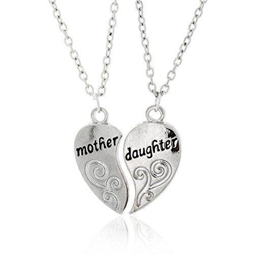 Amazon Prime Deals Mother and Daughter Necklaces - Antique Silvertone Split Pendant Necklace Engraving- -  http://www.wahmmo.com/amazon-prime-deals-mother-and-daughter-necklaces-antique-silvertone-split-pendant-necklace-engraving/ -  - WAHMMO