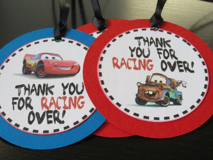 Disney Cars Party Favor Tags