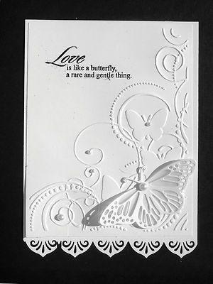 Beautiful Butterflies  Swirls  Embossing Folder + Stampin Up Bonus - Brand new