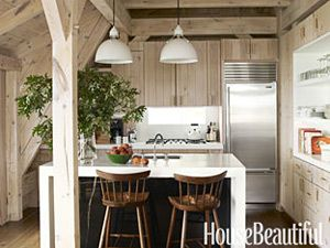Mix of materials. Design: David Netto. Photo: Julian Wass. housebeautiful.comDecor, House Beautiful, Beach House, House Ideas, Create Beautiful, Small Kitchens, Kitchens Ideas, Kitchens Islands, Design Home
