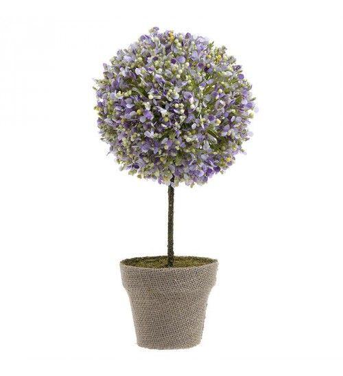 PLANT IN A POT W_PURPLE FLOWERS H-32