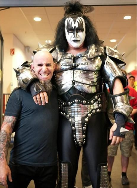 Scott Ian Of Anthrax & Gene. Anthrax Are Huge KISS Fans.