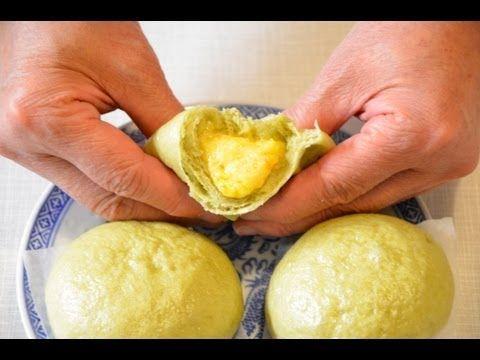 Lau sa lai wong bao/ custard buns, dim sum, 流沙奶黄飽 - YouTube