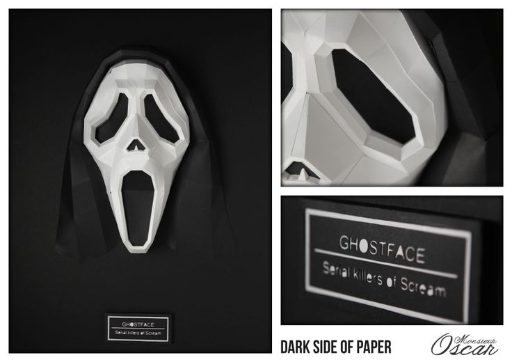 Dark Side of Paper Ghostface : Serial killers of Scream  Monsieur Oscar www.monsieuroscar.com