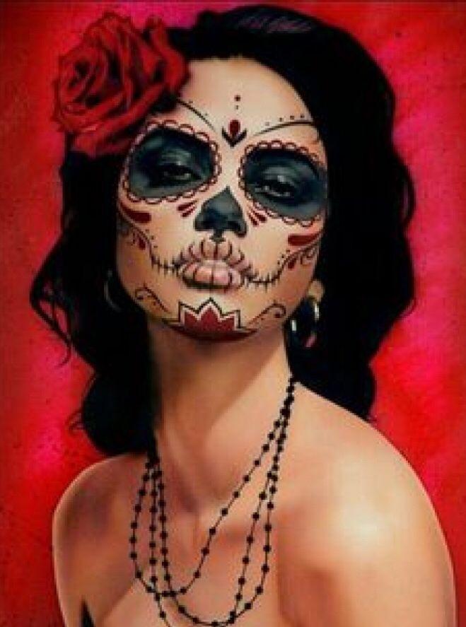 Maquillage Santa Muerte En 2019 Maquillage Mort