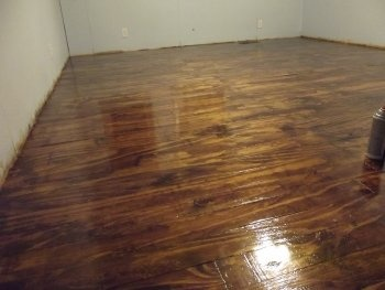 Homemade hardwood floor from plywood for the home for Hardwood flooring 76262