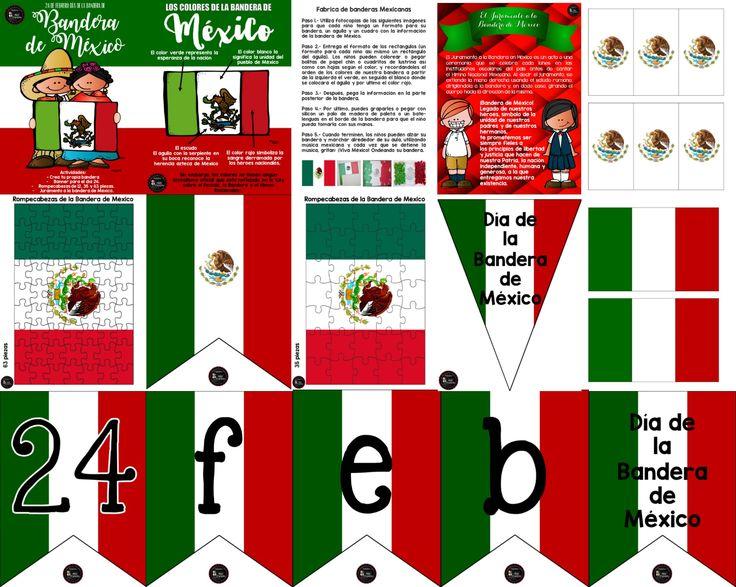 Amigos y compañeros docentes en esta ocasión les compartimos este maravilloso material para trabajar el día de la Bandera de