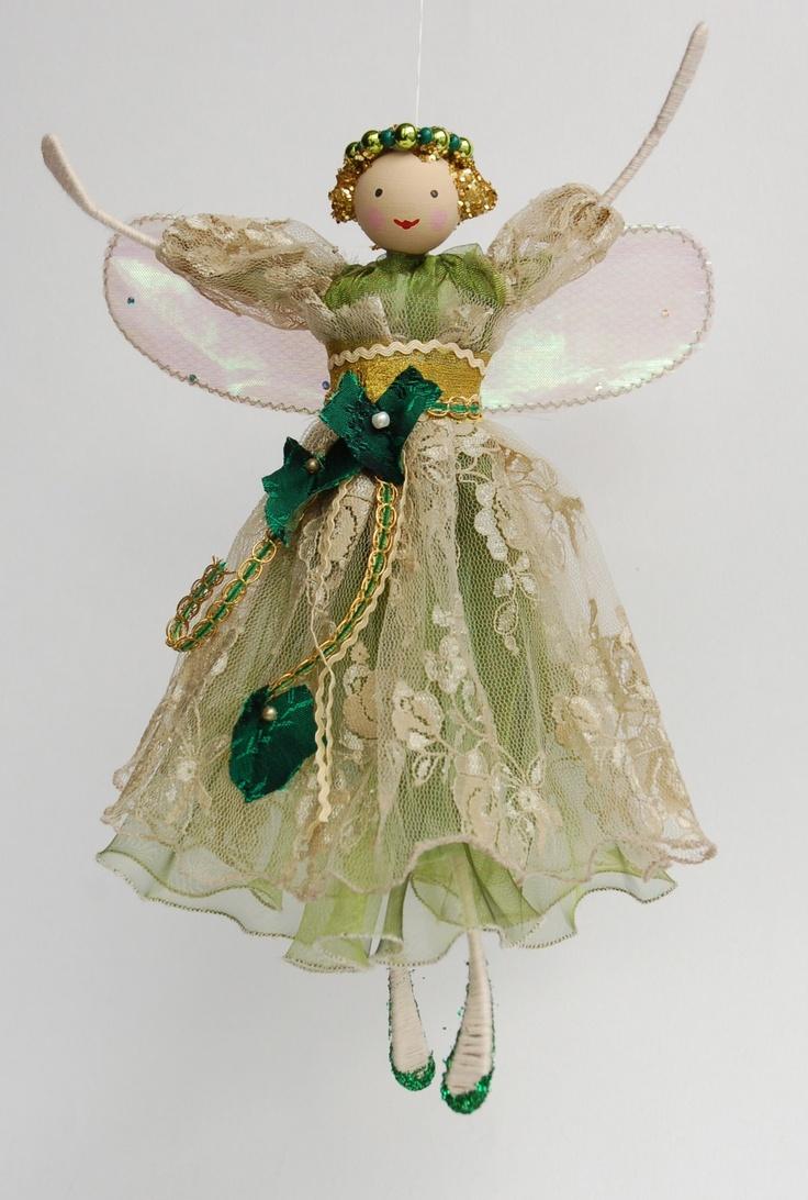 Fairy christmas ornaments - Ivy Fairy Angel Christmas Tree Decorations