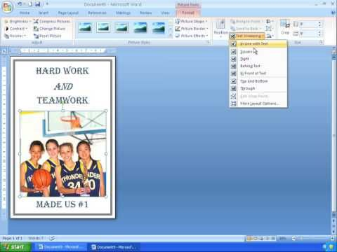 How to make a poster on Word