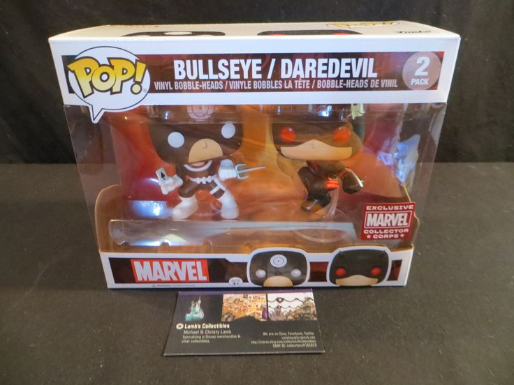 Marvel Collector Corps exclusive 2 pack Bullseye/Daredevil vinyl bobble heads