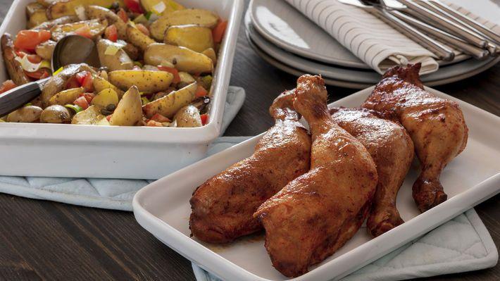 MatPrat - Grillet kyllinglår med lun potetsalat