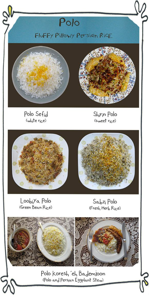 """What is polo?  Only the fluffiest loveliest rice you can have.  An Illustrated Guide to """"polo"""" - part of the Persian Rice 101 post  