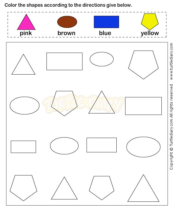 Shapes4 - math Worksheets - preschool Worksheets Mehr