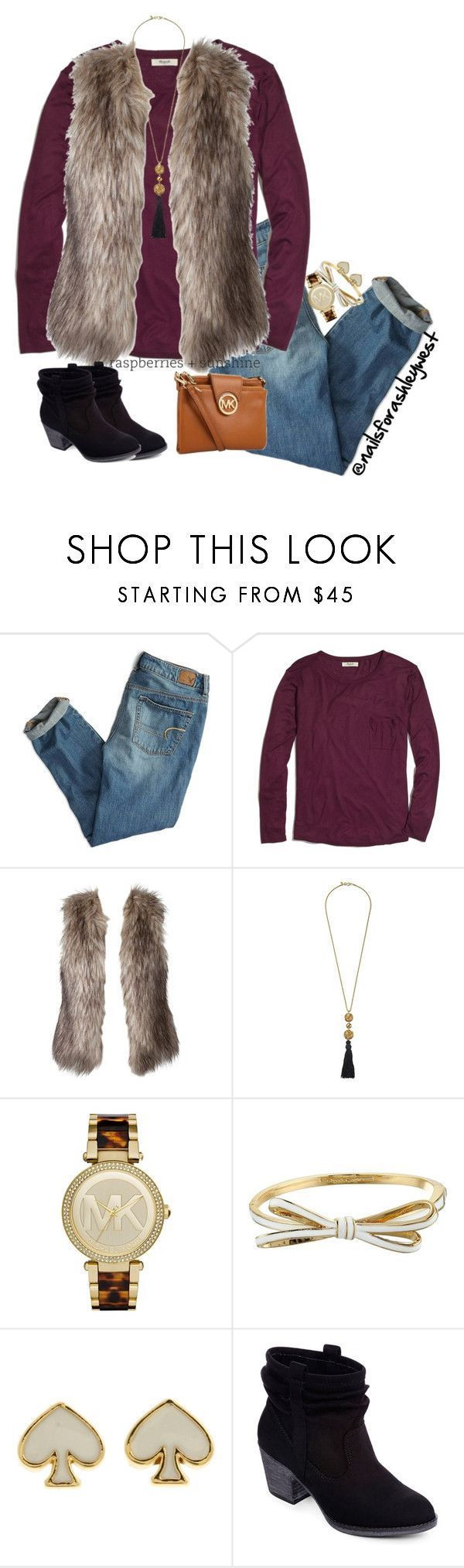 """Ehh....."" by nailsforashleywest � liked on Polyvore featuring American Eagle Outfitters, Madewell, Kenneth Jay Lane, Michael Kors, Kate Spade, Rocket Dog, women's clothing, women's fashion, women and female"