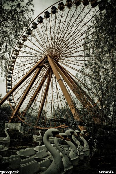"Spreepark in Berlin - this looks ""eerie"" in a cool kind of way, if that makes sense...."