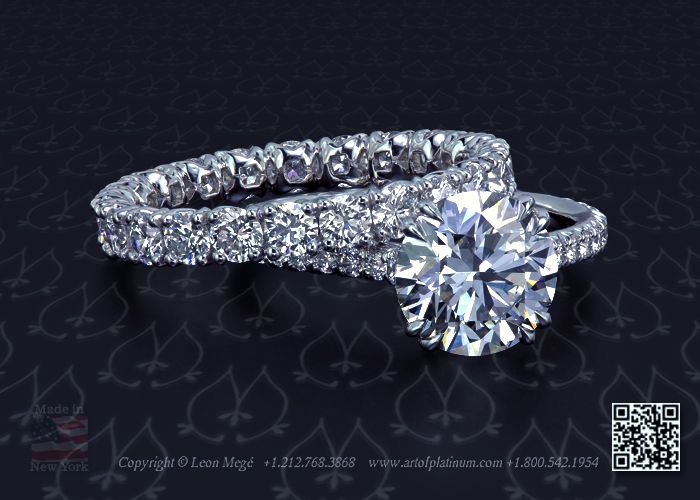 Diamond Solitaire Engagement Ring by Leon Megé