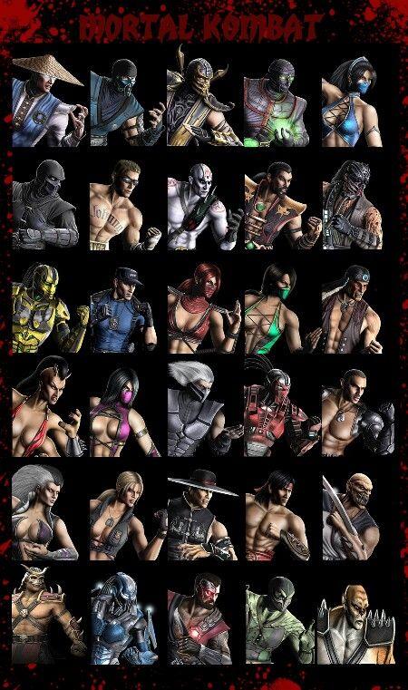 Mortal kombat character line up