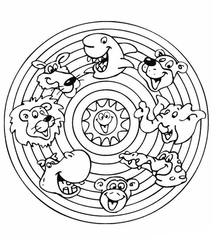 Kleurplaat Mandala Mandala Dieren Knutselen