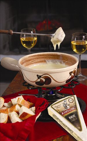 ... cheese is Joan of Arc® Brie cheese which has a buttery flavor that