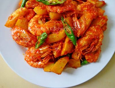 HESTI'S KITCHEN : yummy for your tummy: Balado Udang Kentang