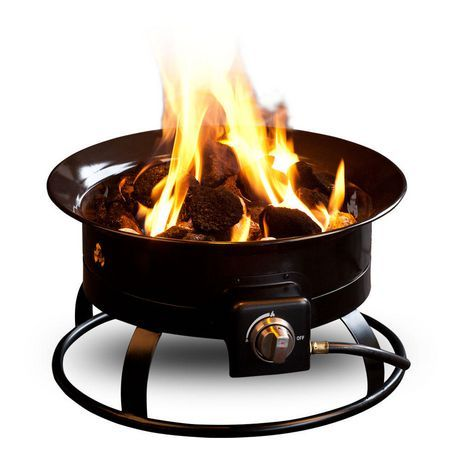 Portable propane fire pit offers the perfect alternative to a traditional labour intensive campfire.