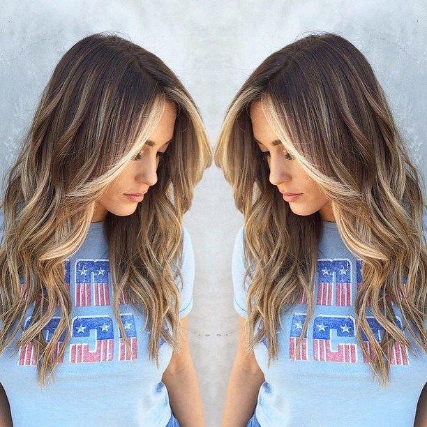 Brown To Blonde Balayage Highlights