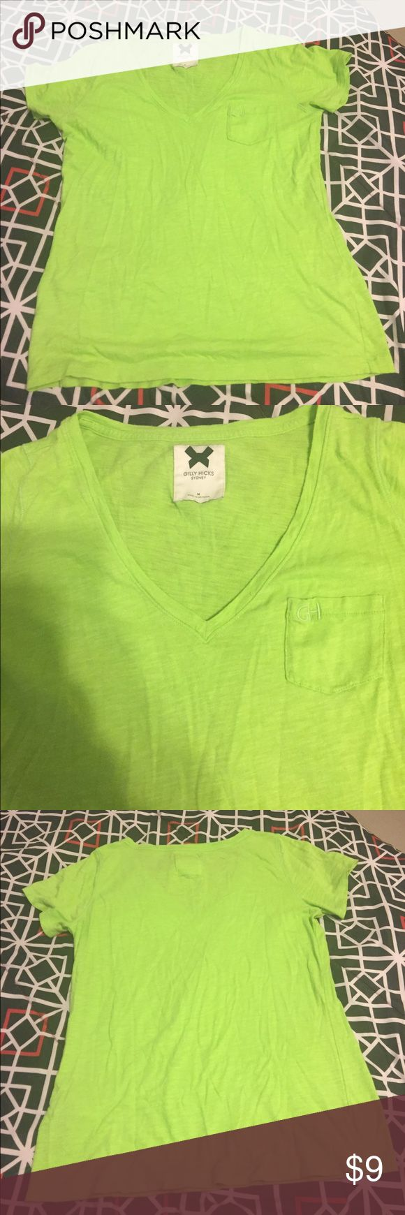 Gilly Hicks Lime Green Shirt Gilly Hicks bright lime green shirt is great for spring and summer! No stains or rips. Comes from a smoke free home. Gilly Hicks Tops Tees - Short Sleeve