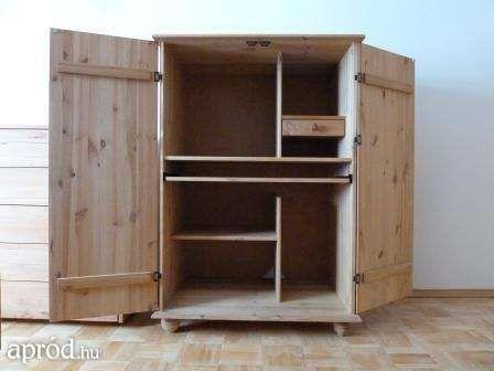 Fenyő szekreter, írókomód, szekrény, számítógépasztal Győr  -  29500 Ft